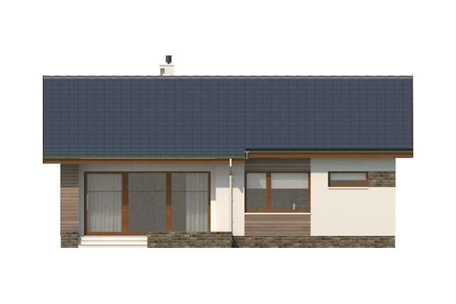 Zobacz powiększenie elewacji ogrodowej - projekt Royan
