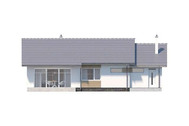 Zobacz powiększenie elewacji ogrodowej - projekt Royan II