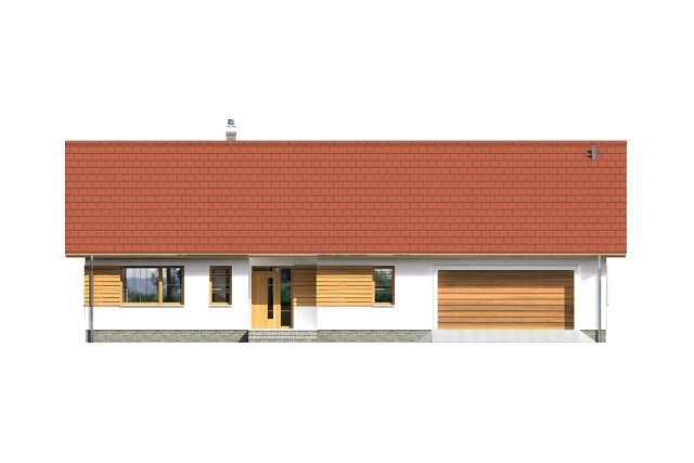 Zobacz powiększenie elewacji frontowej - projekt Aosta II