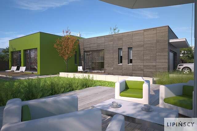 Zobacz powiększenie wizualizacji ogrodowej - projekt Edison
