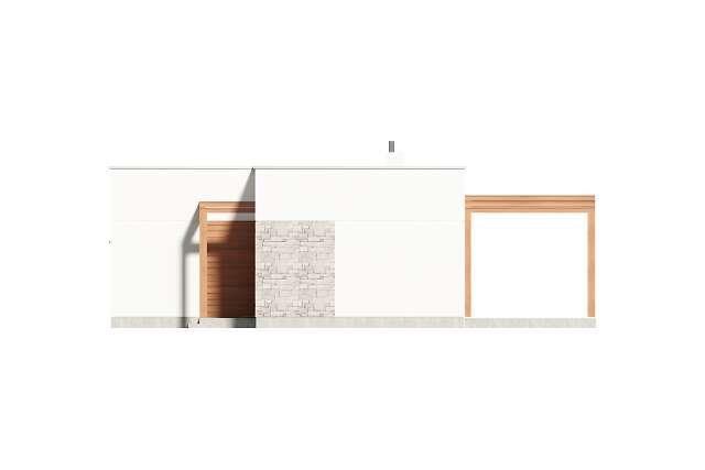 Zobacz powiększenie elewacji bocznej prawej - projekt Ribeira