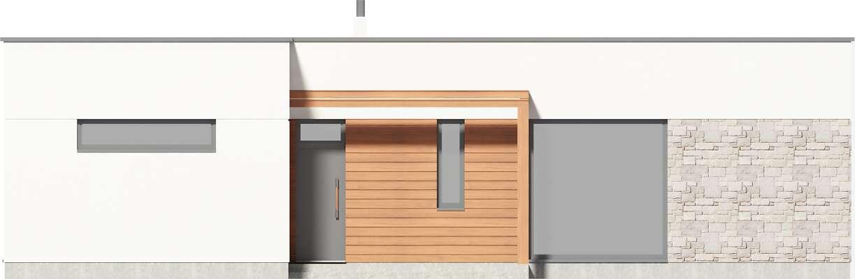 Elewacja frontowa - projekt Ribeira