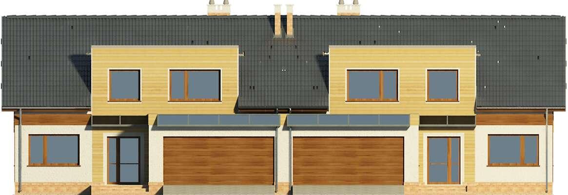 Elewacja frontowa - projekt Essen IV