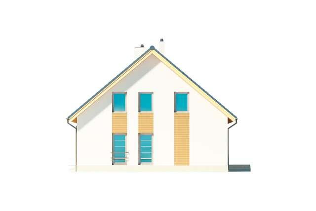 Zobacz powiększenie elewacji bocznej prawej - projekt Brugia