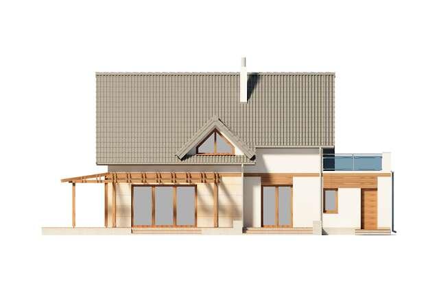 Zobacz powiększenie elewacji ogrodowej - projekt Tokio III