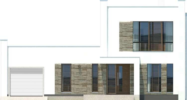 Elewacja frontowa - projekt Cork