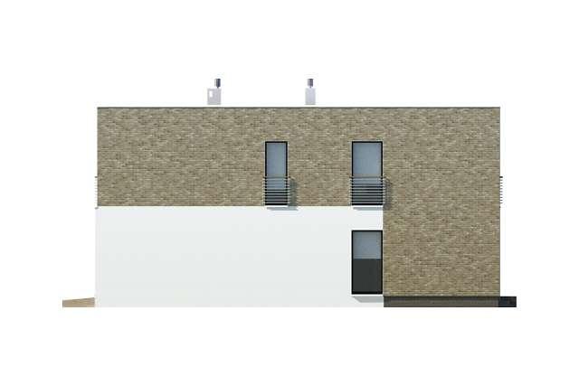 Zobacz powiększenie elewacji bocznej prawej - projekt Cork II