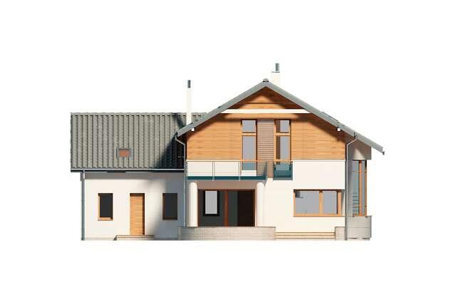 Zobacz powiększenie elewacji ogrodowej - projekt Sapporo II