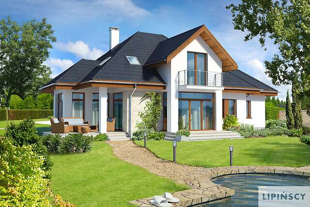 Zobacz powiększenie wizualizacji ogrodowej - projekt Dijon II