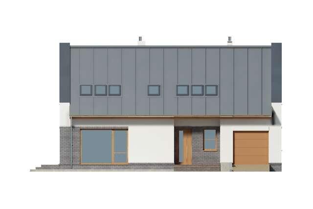 Zobacz powiększenie elewacji frontowej - projekt Kyoto