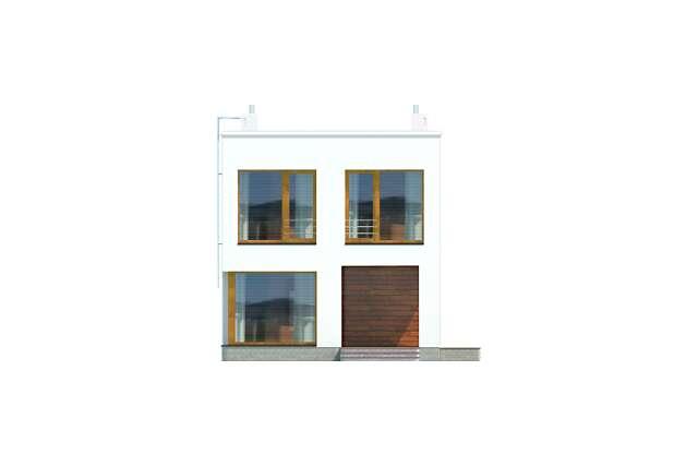 Zobacz powiększenie elewacji frontowej - projekt Tottori