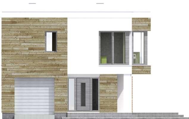 Elewacja frontowa - projekt Aarhus