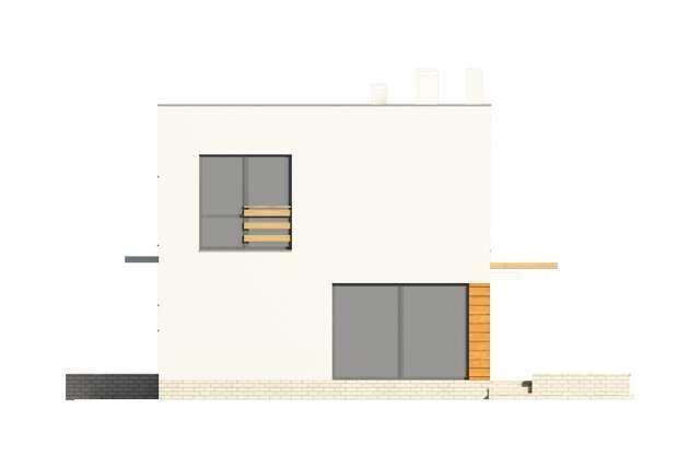 Zobacz powiększenie elewacji bocznej prawej - projekt Edynburg II