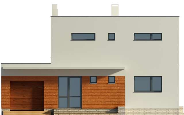 Elewacja frontowa - projekt Edynburg II