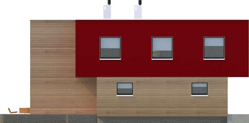 Elewacja boczna lewa - projekt Delft II