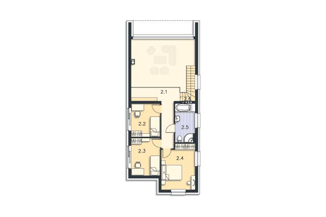 Zobacz powiększenie rzutu kondygnacji Piętro - projekt Delft III