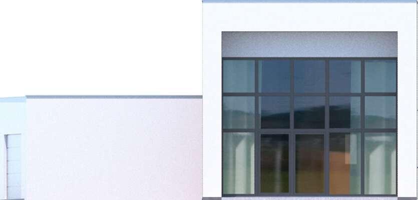 Elewacja ogrodowa - projekt Delft IV