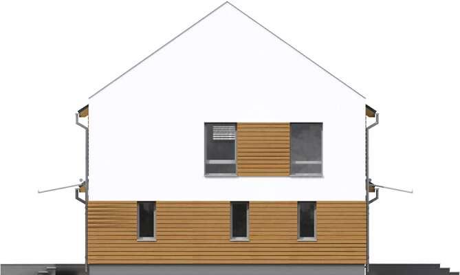 Elewacja boczna prawa - projekt Odense