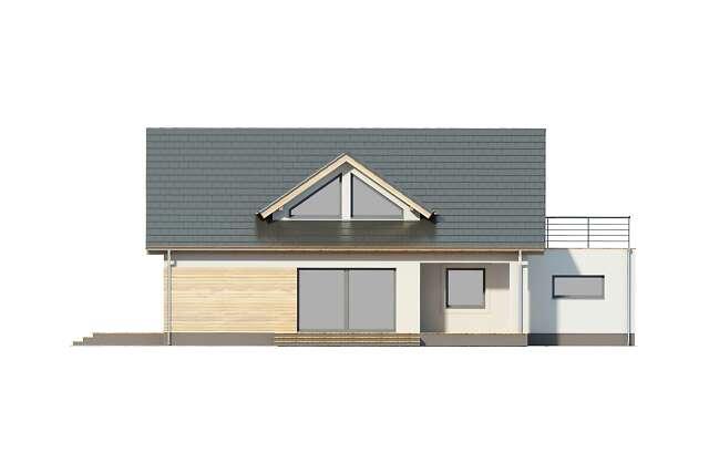 Zobacz powiększenie elewacji ogrodowej - projekt Rodez III