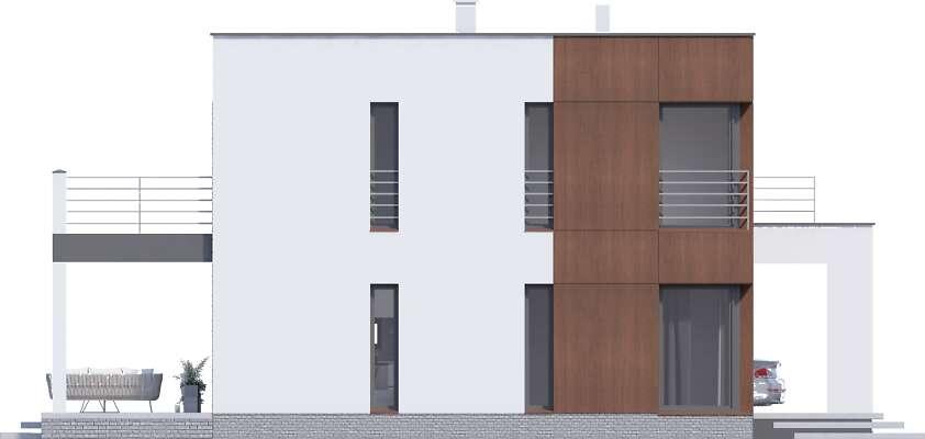 Elewacja boczna lewa - projekt Carrara V