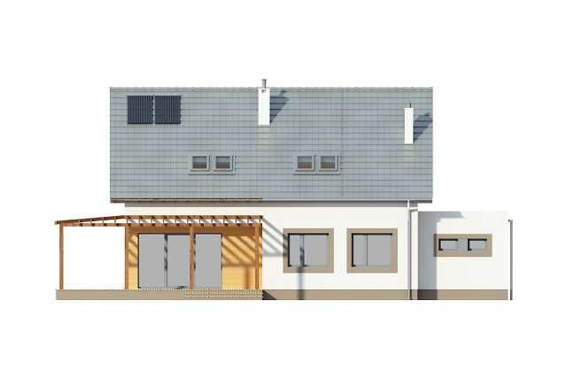 Zobacz powiększenie elewacji ogrodowej - projekt Fulton