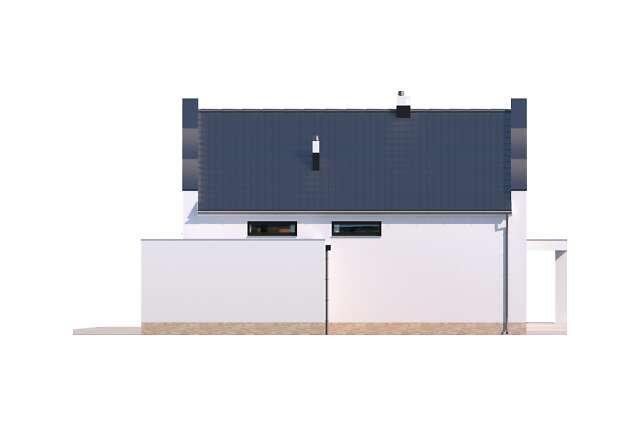 Zobacz powiększenie elewacji bocznej prawej - projekt Bergamo II