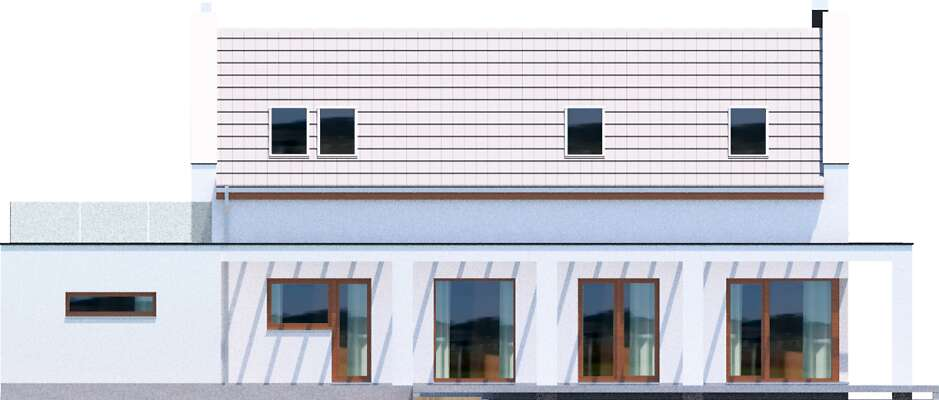 Elewacja ogrodowa - projekt Bergamo IV