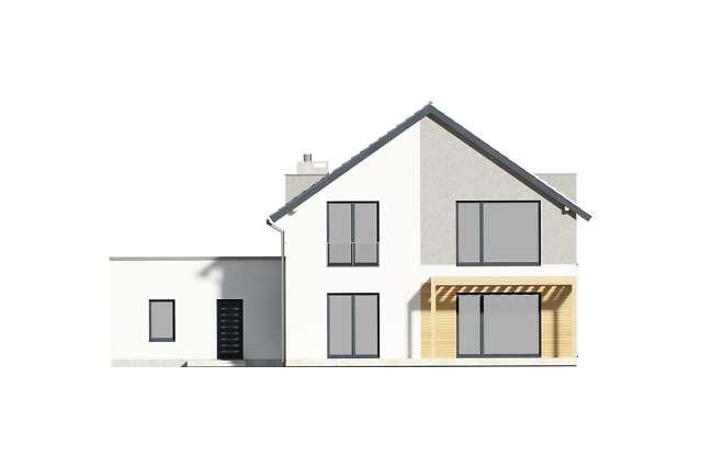Zobacz powiększenie elewacji ogrodowej - projekt Grenoble II