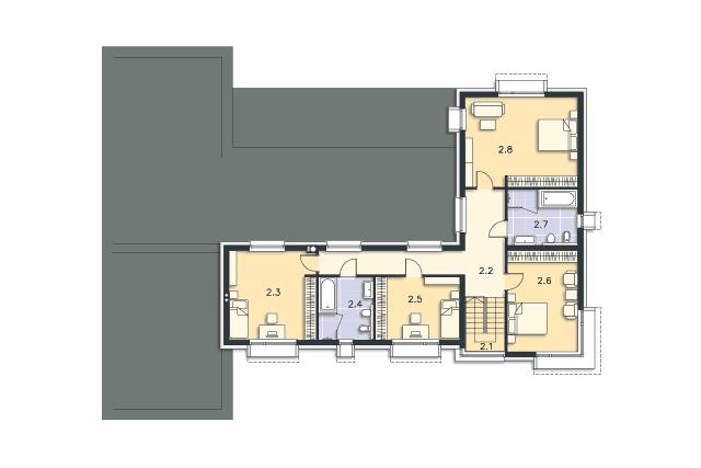 Zobacz powiększenie rzutu kondygnacji Piętro - projekt Annecy