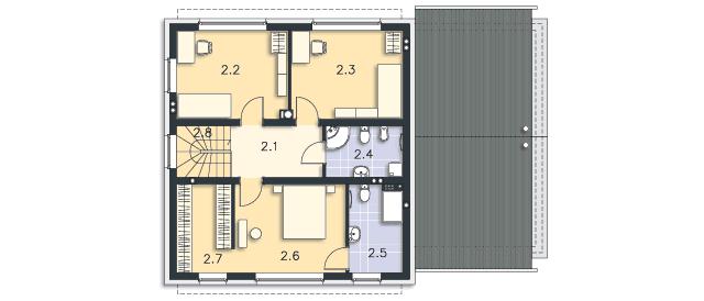 Rzut kondygnacji Piętro - projekt Skagen III