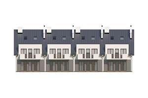 Elewacja ogrodowa - projekt Almere