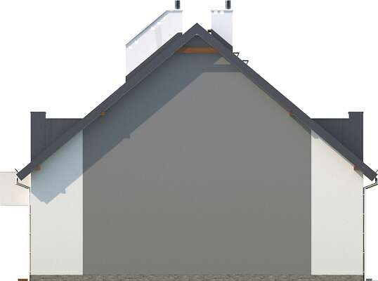 Elewacja boczna lewa - projekt Almere
