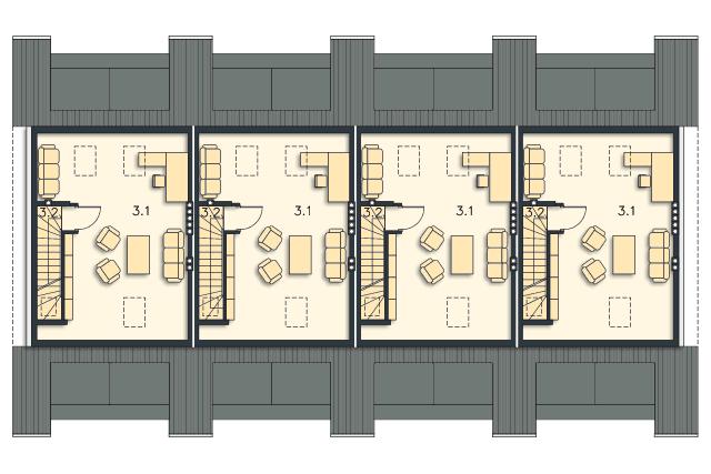 Zobacz powiększenie rzutu kondygnacji Studio - projekt Edmonton