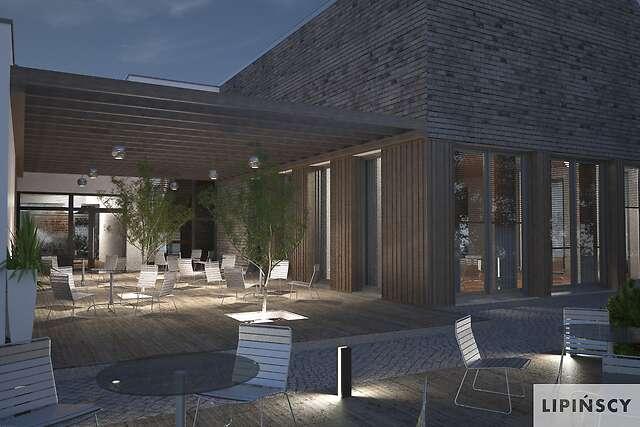 Zobacz powiększenie wizualizacji ogrodowejdetalu - projekt Budynek usługowy Jastrząb