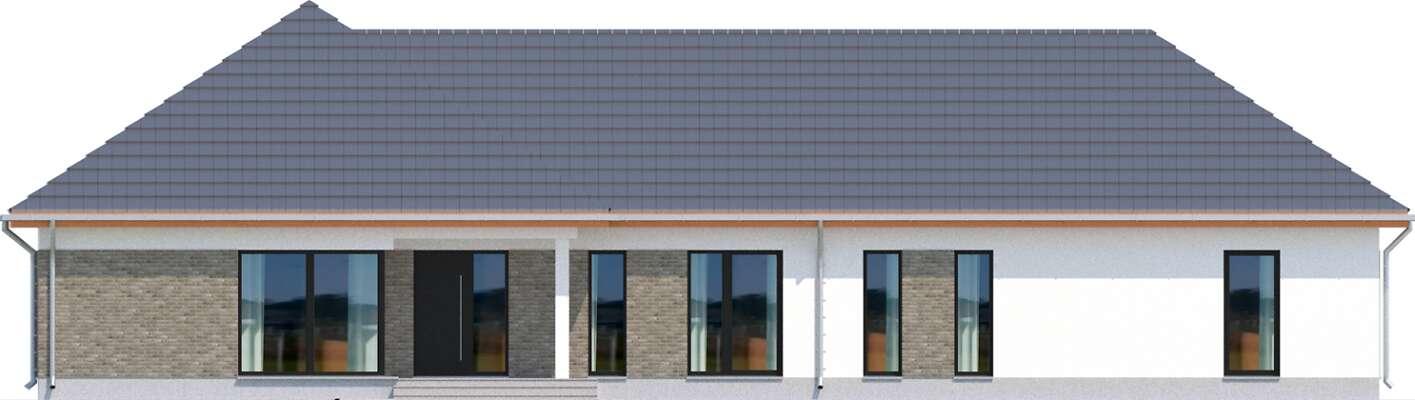 Elewacja frontowa - projekt Budynek usługowy Office 1