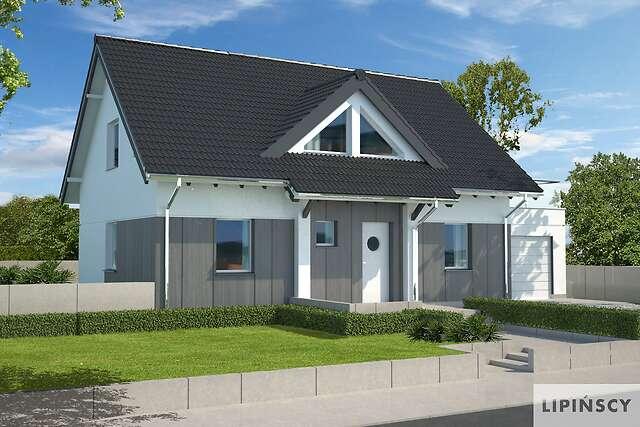 Zobacz powiększenie wizualizacji frontowej - projekt Lipińscy Dom Pasywny 1