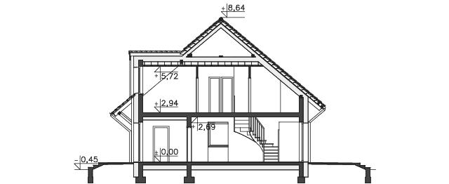 Przekrój - projekt Lipińscy Dom Pasywny 2