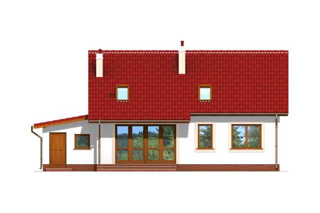 Zobacz powiększenie elewacji ogrodowej - projekt Tuluza V