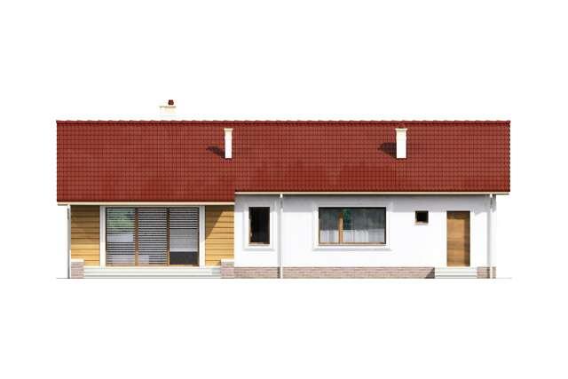 Zobacz powiększenie elewacji ogrodowej - projekt Vis