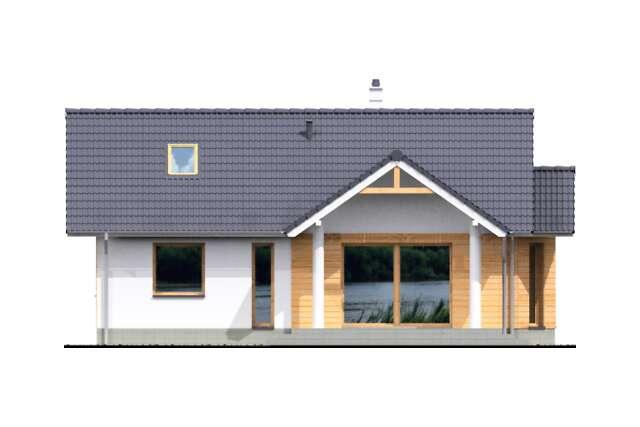 Zobacz powiększenie elewacji ogrodowej - projekt Bolton