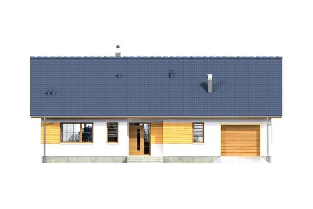 Zobacz powiększenie elewacji frontowej - projekt Aosta