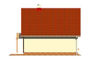Elewacja boczna lewa - projekt Ustronny