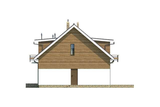 Zobacz powiększenie elewacji bocznej prawej - projekt Budynek agroturystyczny Brzoza
