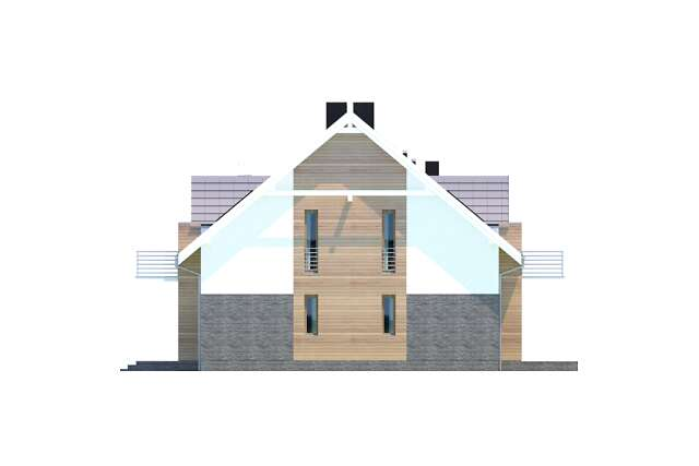 Zobacz powiększenie elewacji bocznej prawej - projekt Budynek agroturystyczny Dąb 3
