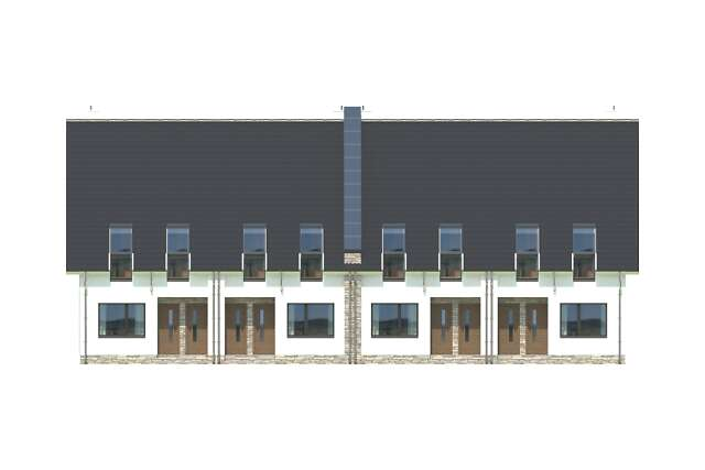 Zobacz powiększenie elewacji frontowej - projekt Bellagio
