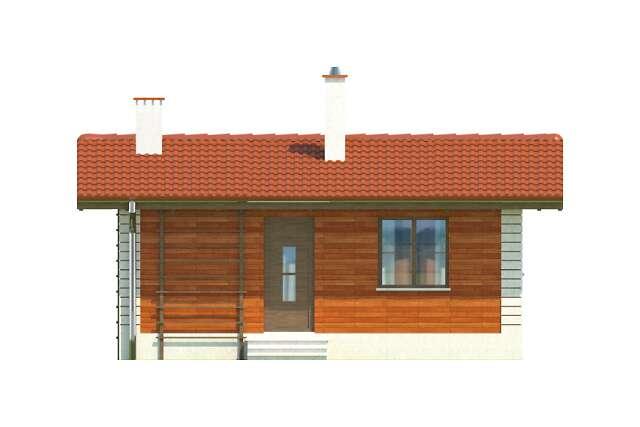 Zobacz powiększenie elewacji frontowej - projekt Amarillo