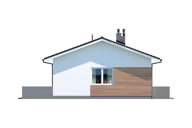 Zobacz powiększenie elewacji bocznej lewej - projekt Oban w.drewniana